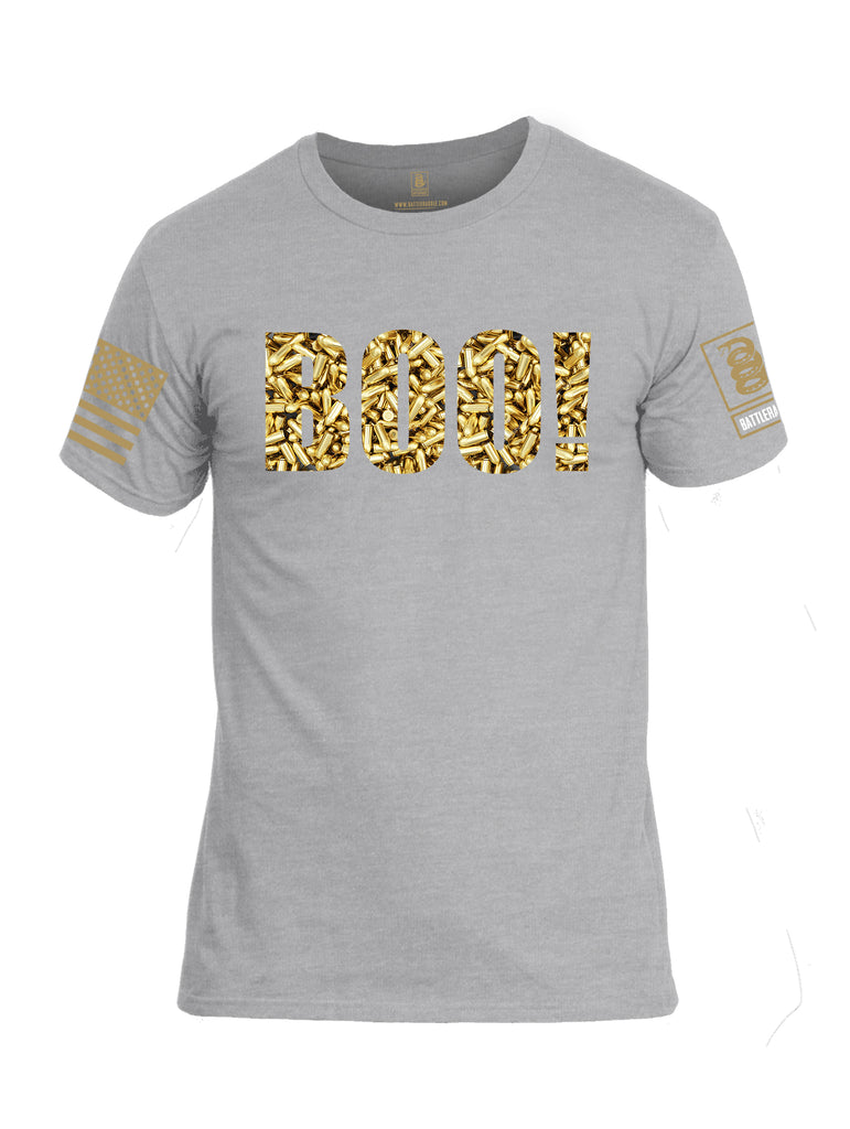 Battleraddle Boo Bullet Rounds Brass Sleeve Print Mens Cotton Crew Neck T Shirt