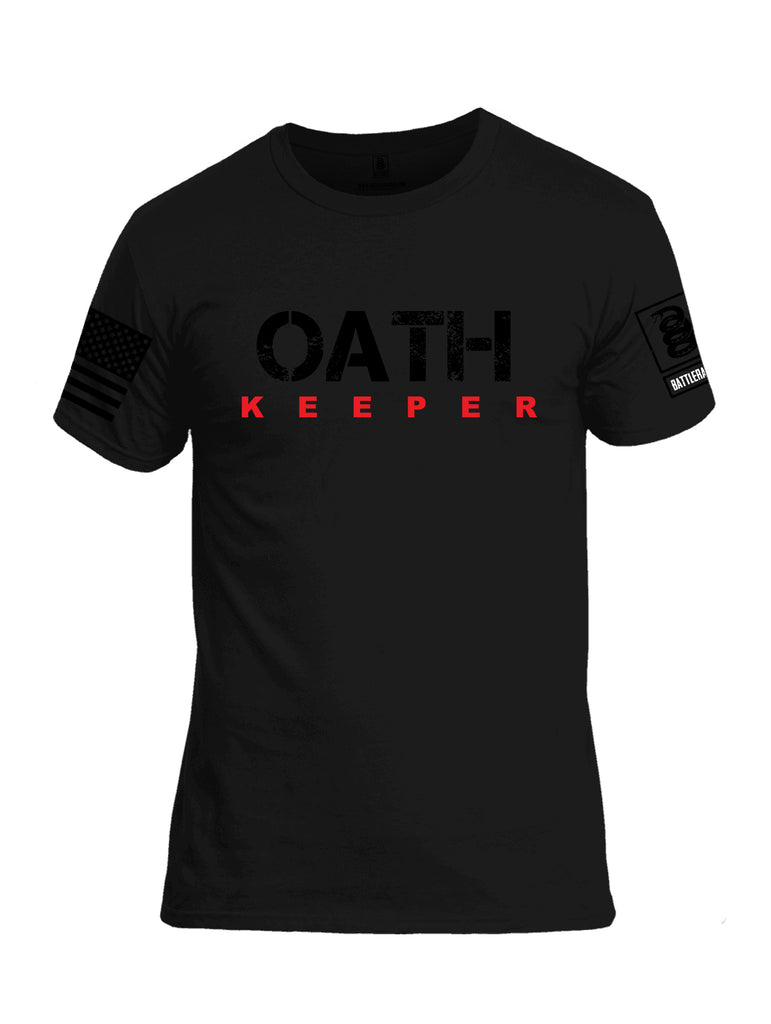 Battleraddle Oath Keeper Black {sleeve_color} Sleeves Men Cotton Crew Neck T-Shirt