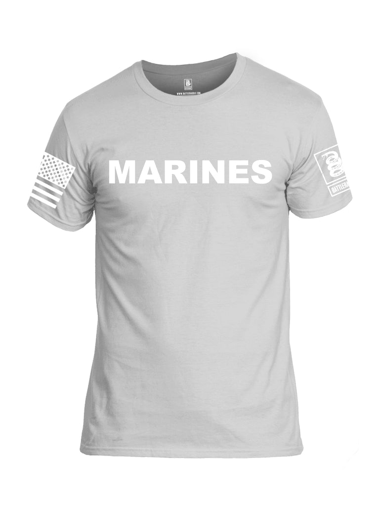 Battleraddle Marines {sleeve_color} Sleeves Men Cotton Crew Neck T-Shirt