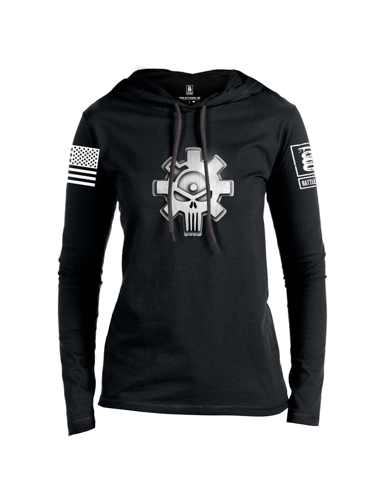 Battleraddle Superpatriot Heavy Duty Ar15 Bolt Expounder Skull Women Cotton Thin Cotton Lightweight Hoodie
