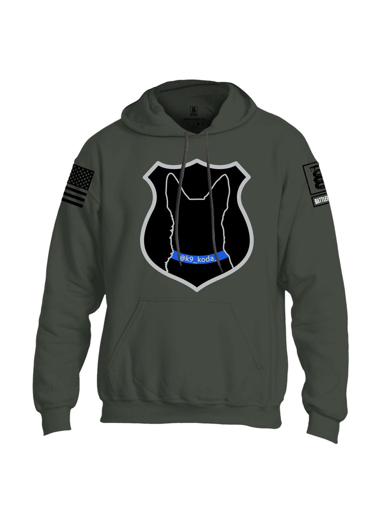 Battleraddle K9 Koda {sleeve_color} Sleeves Uni Cotton Blended Hoodie With Pockets