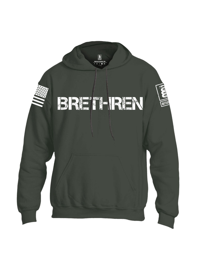 Battleraddle Brethren White Sleeves Uni Cotton Blended Hoodie With Pockets