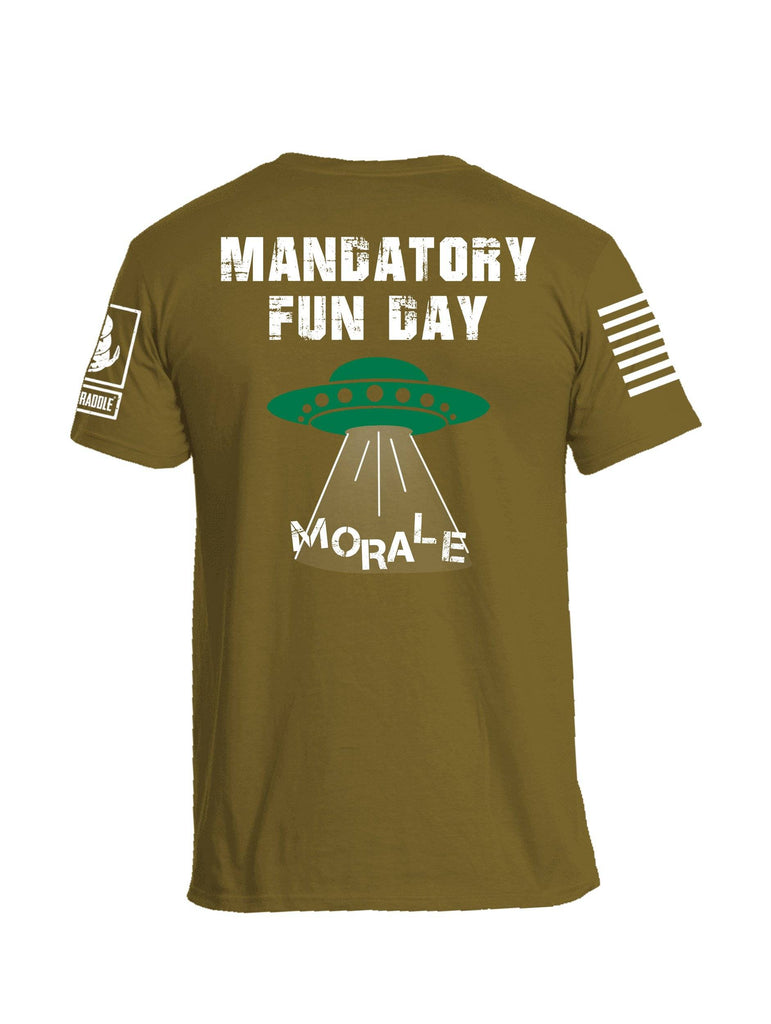 Battleraddle 51 Mandatory Fun Day Morale White Sleeve Print Mens Cotton Crew Neck T Shirt shirt|custom|veterans|Apparel-Mens T Shirt-cotton