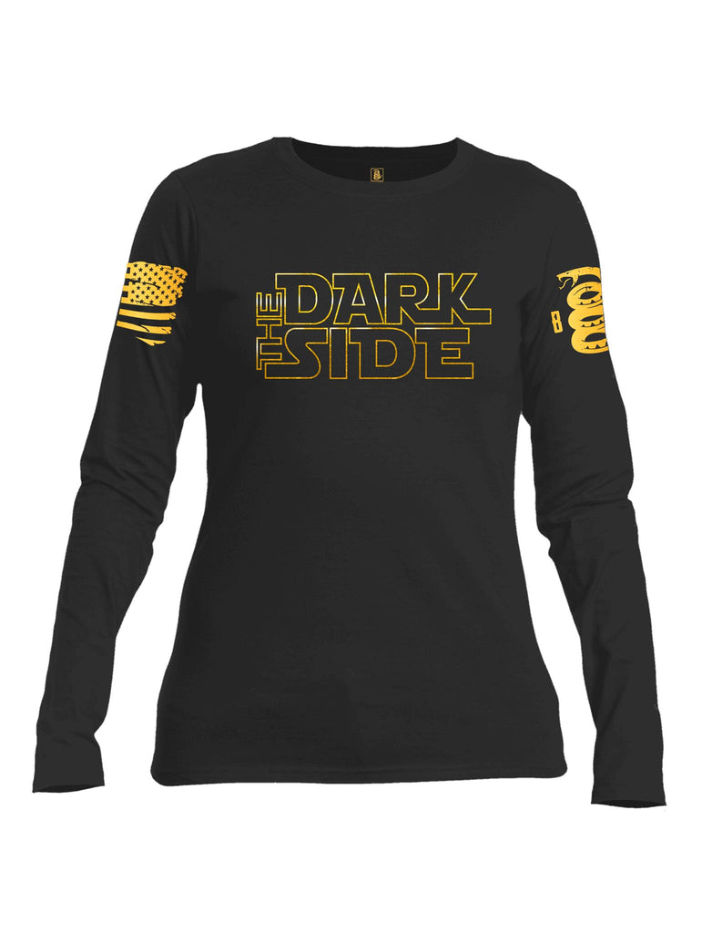 Battleraddle The Dark Side Brass Sleeve Print V2 Womens Cotton Long Sleeve Crew Neck Sweatshirt