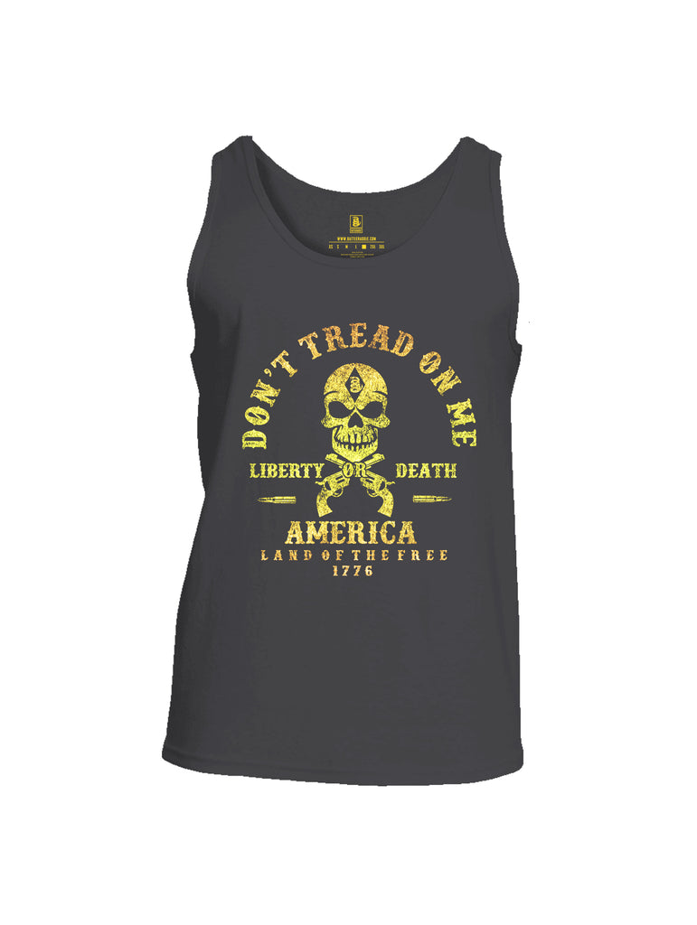 Battleraddle Don't Tread On Me Liberty Or Death America Land Of The Free 1776 Mens Cotton Tank Top