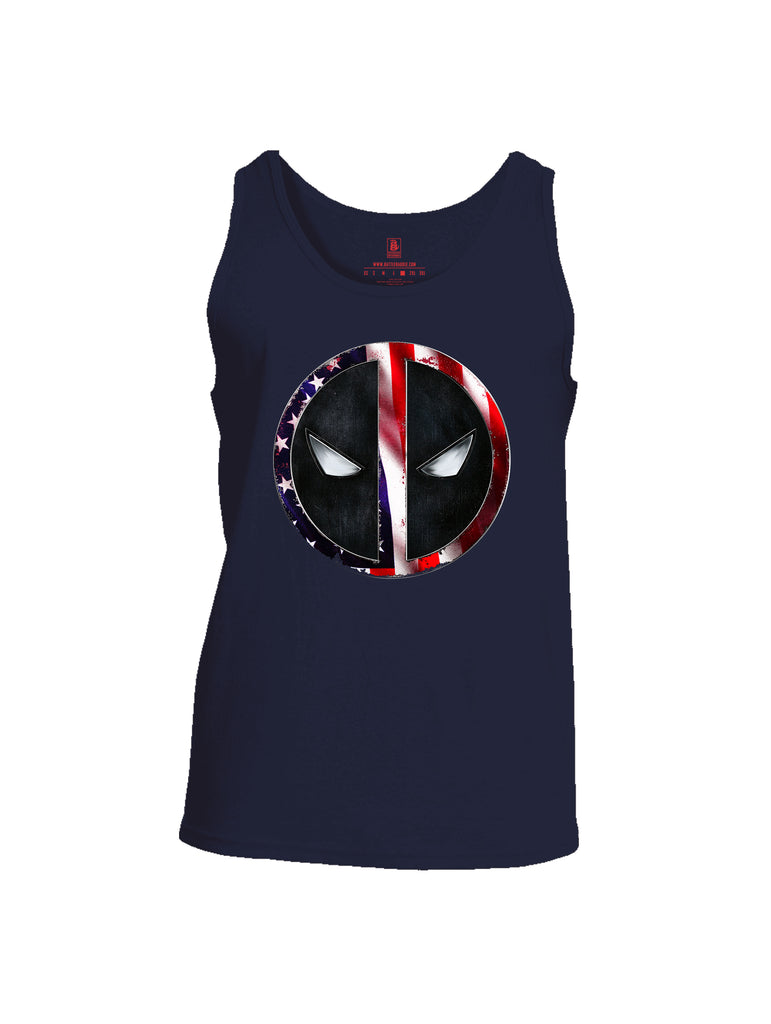 Battleraddle Patriotic American Flag Avenger Dead Man Snake Eyes Mens Cotton Tank Top