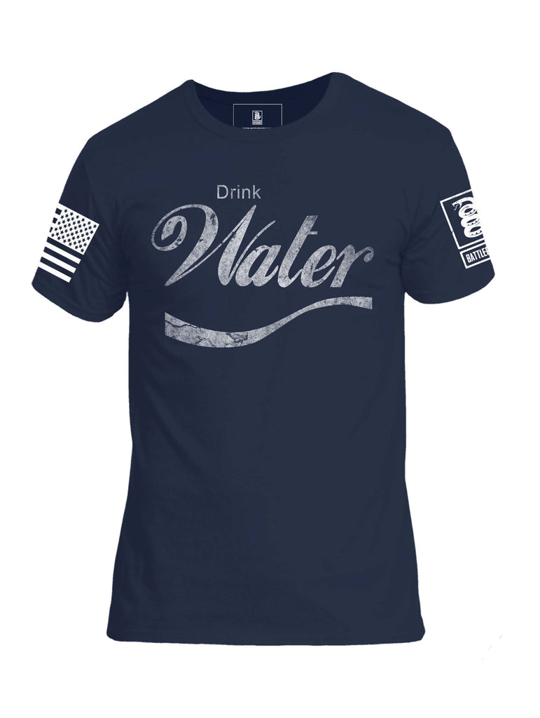 Battleraddle Drink Water Mens Crew Neck Cotton T Shirt