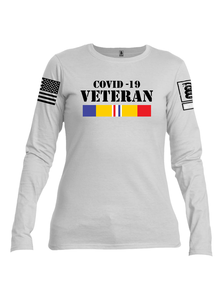 Battleraddle Covid 19 Veteran {sleeve_color} Sleeves Women Cotton Crew Neck Long Sleeve T Shirt