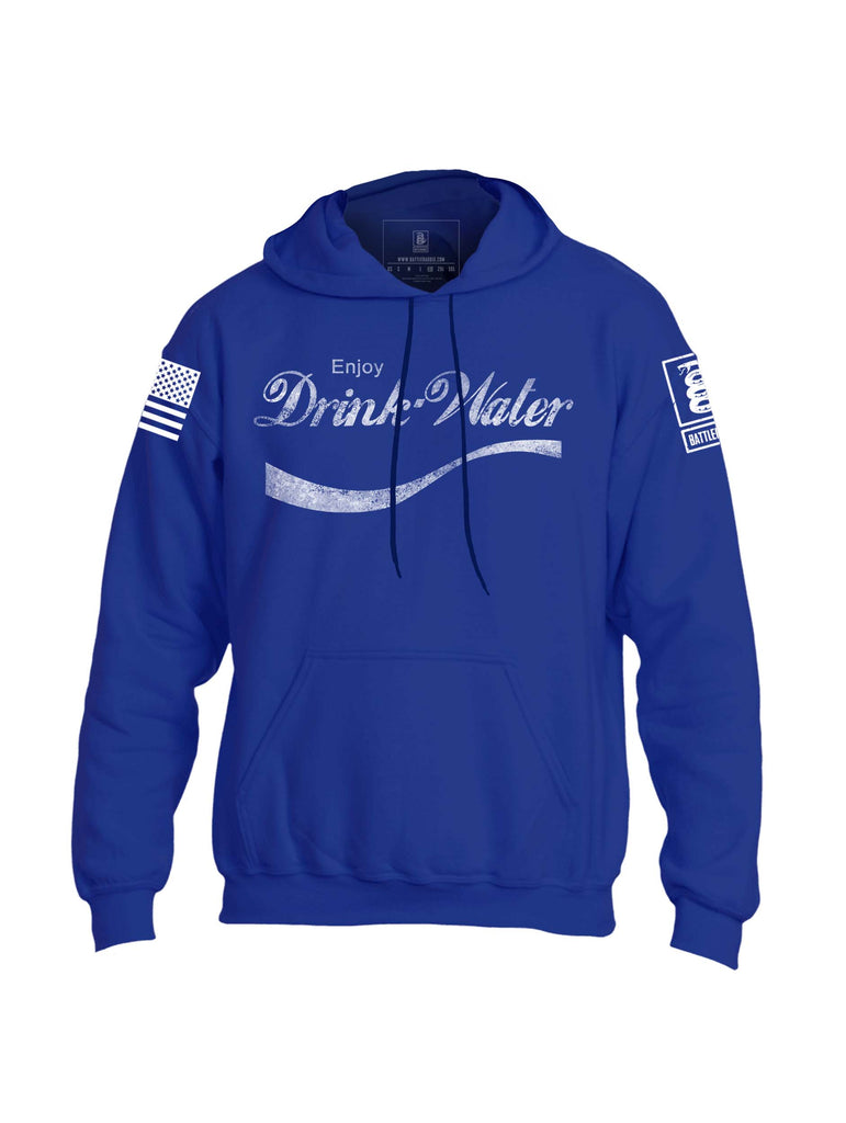 Battleraddle Enjoy Drink Water Mens Blended Hoodie With Pockets