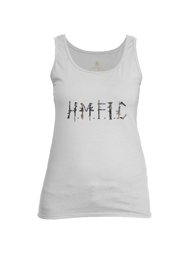 Battleraddle Hmfic Rifles {sleeve_color} Sleeves Women Cotton Cotton Tank Top
