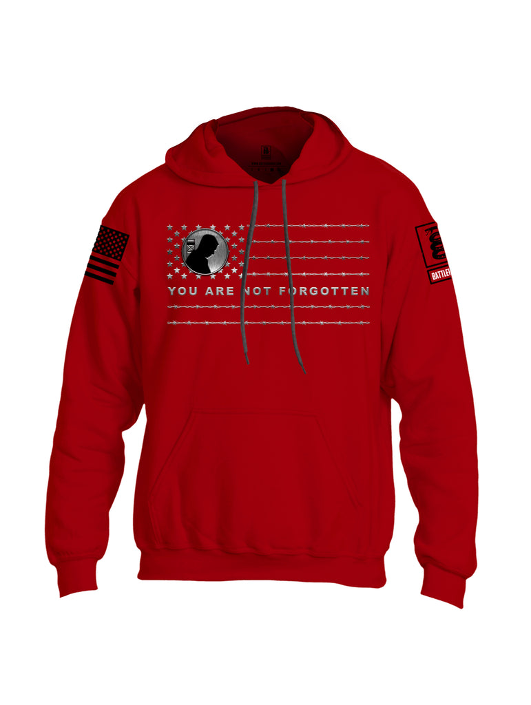 Battleraddle You Are Not Forgotten {sleeve_color} Sleeves Uni Cotton Blended Hoodie With Pockets