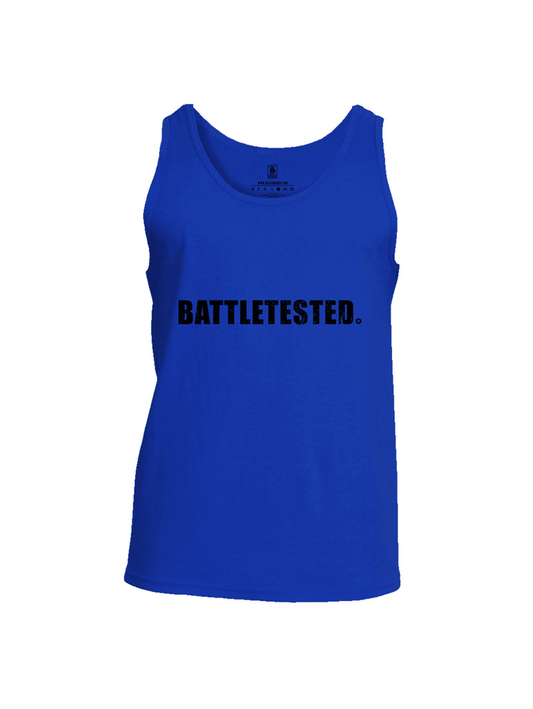 Battleraddle Battletested Black {sleeve_color} Sleeves Men Cotton Cotton Tank Top