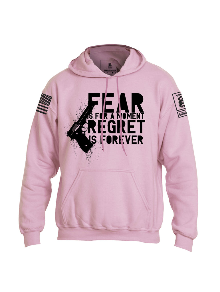 Battleraddle Fear Is For A Moment Regret Is Forever Mens Blended Hoodie With Pockets