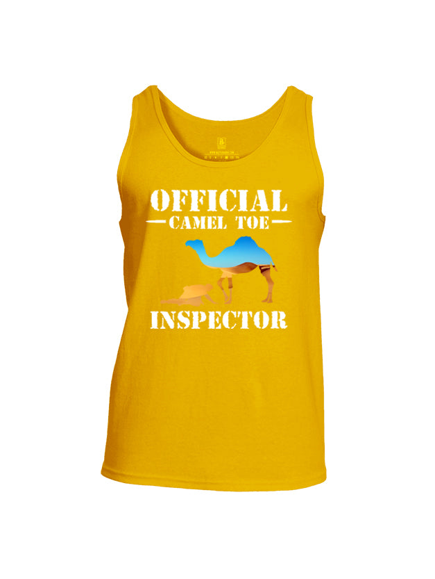 Battleraddle Official Camel Toe Inspector Mens Cotton Tank Top