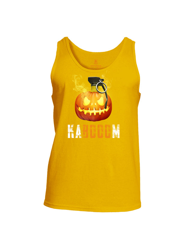 Battleraddle Kabooom Skull Pumpkin Mens Cotton Tank Top