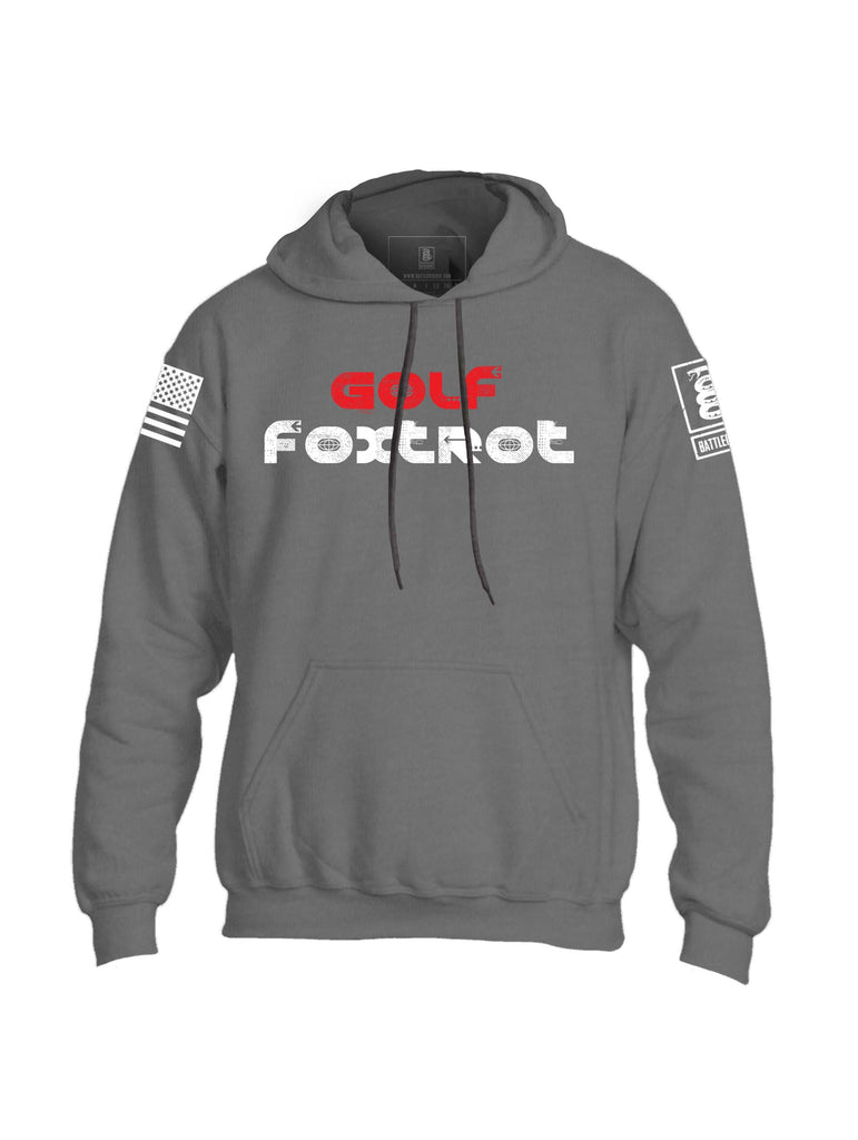 Battleraddle Golf Foxtrot Mens Blended Hoodie With Pockets