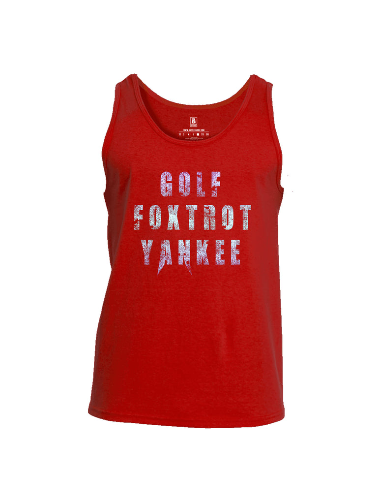 Battleraddle Golf Foxtrot Yankee Mens Cotton Tank Top