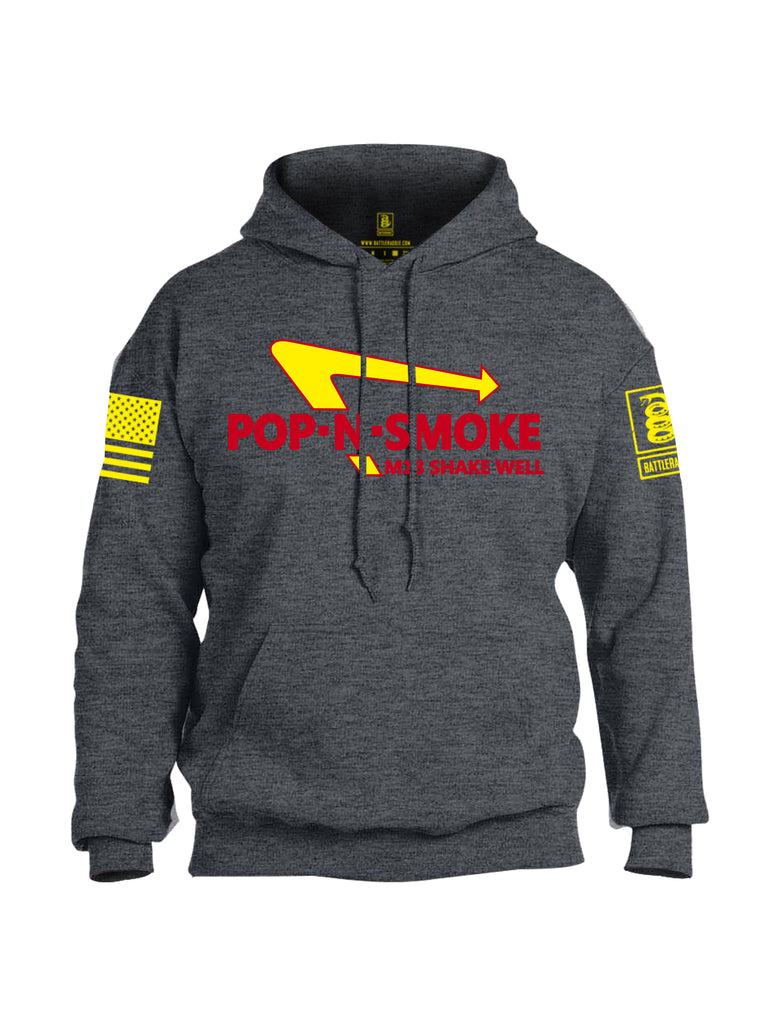 Battleraddle Pop-N-Smoke M18 Shake Well V1 Yellow Sleeve Print Mens Blended Hoodie With Pockets