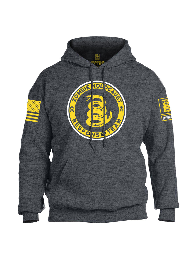 Battleraddle Zombie Holocaust Response Team V3 Yellow Sleeve Print Mens Blended Hoodie With Pockets