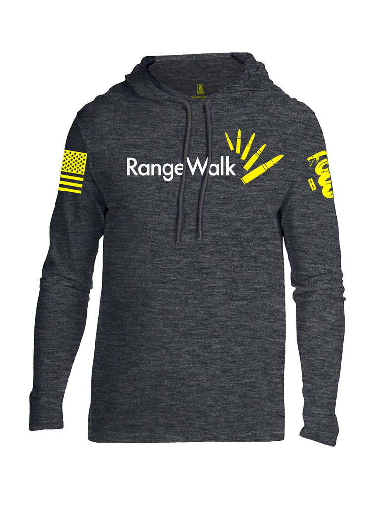 Battleraddle Range Walk Yellow Sleeve Print Mens Thin Cotton Lightweight Hoodie