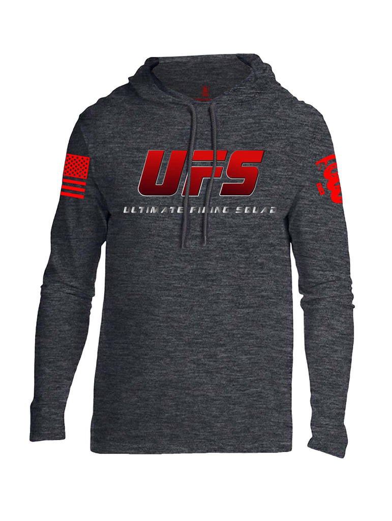 Battleraddle UFS Ultimate Firing Squad Red Sleeve Print Mens Thin Cotton Lightweight Hoodie