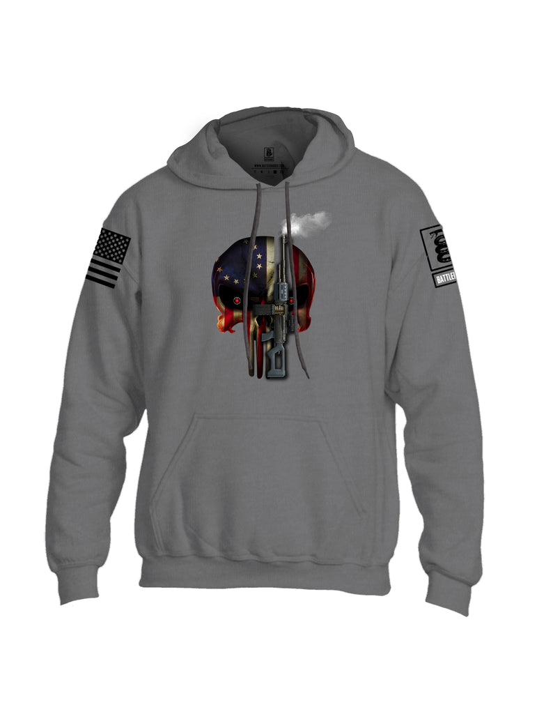 Battleraddle Expounder Machine Gun Black Sleeve Print Mens Blended Hoodie With Pockets