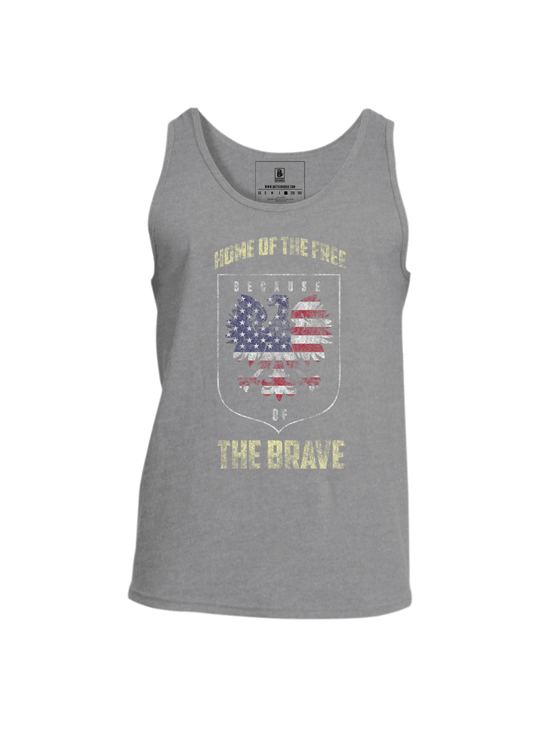 Battleraddle Home Of The Free Because Of The Brave Mens Cotton Tank Top