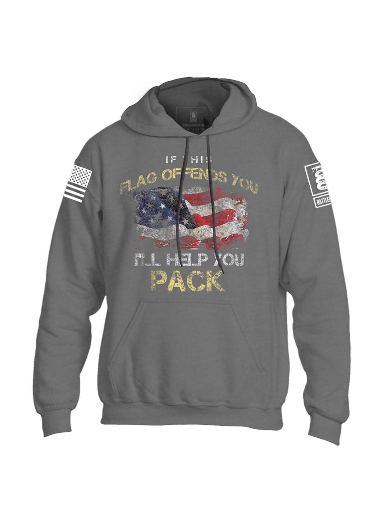 Battleraddle If This Flag Offends You I'll Help You Pack Mens Blended Hoodie