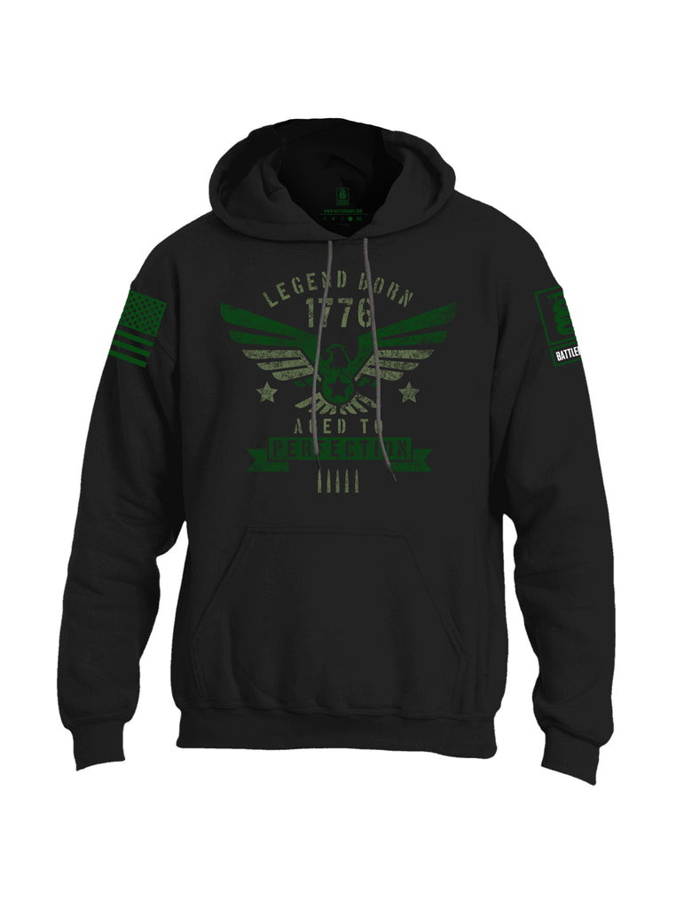 Battleraddle Legend Born 1776 Aged To Perfection Mens Blended Hoodie With Pockets