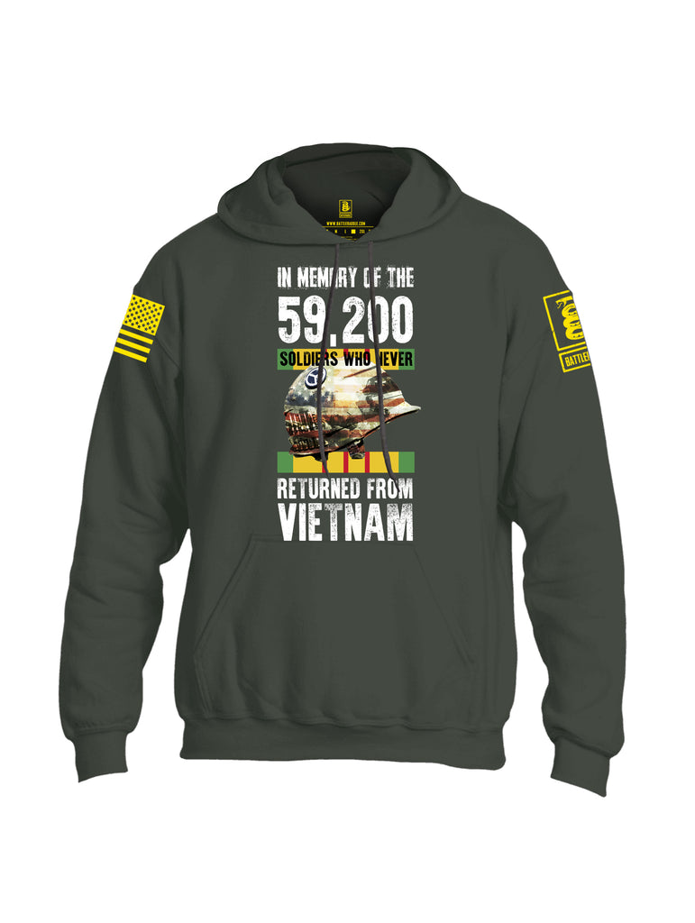 Battleraddle In Memory Of The 59,200 Soldiers Who Never Returned From Vietnam Yellow Sleeve Print Mens Blended Hoodie With Pockets