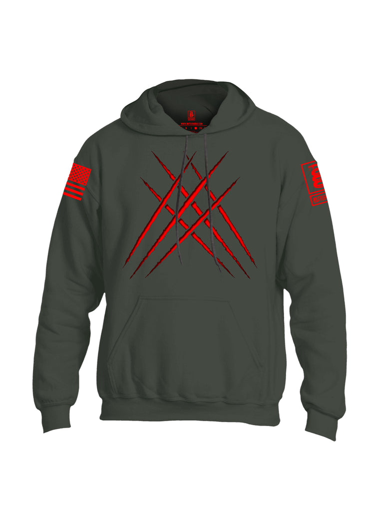 Battleraddle Wolve Adamantium Claws Red Sleeve Print Mens Blended Hoodie With Pockets