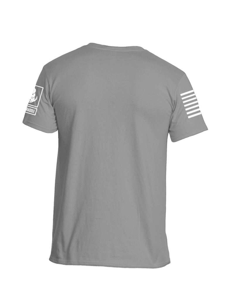 Battleraddle Be Badass White Sleeve Print Mens Cotton Crew Neck T Shirt - Battleraddle® LLC
