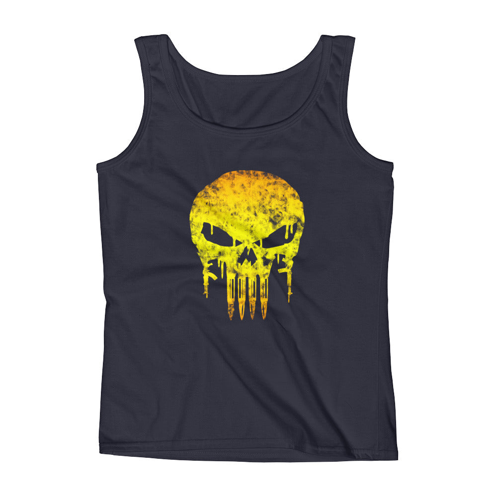 Battleraddle Yellow Skull Womens Cotton Tank Top