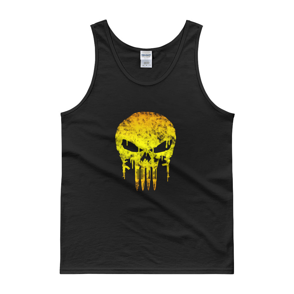 Battleraddle Yellow Skull Mens Cotton Jersey Tank Top
