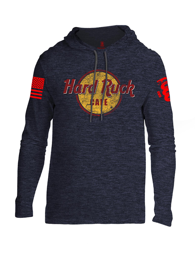 Battleraddle Hard Ruck Cafe Red Sleeve Print Mens Thin Cotton Lightweight Hoodie