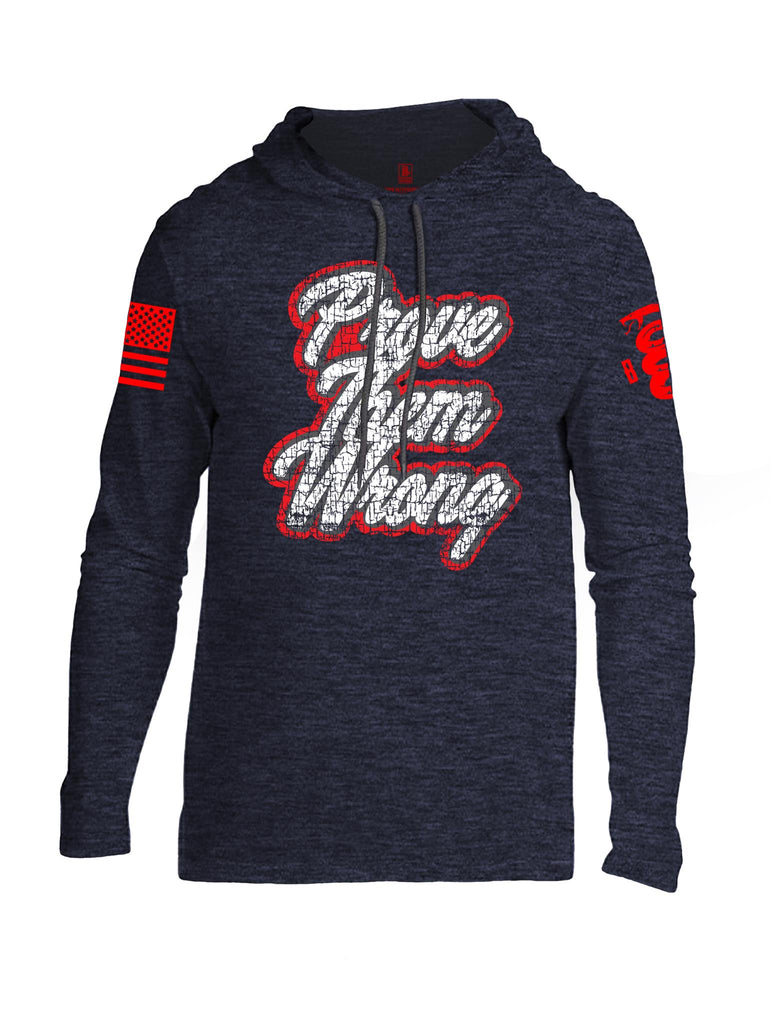 Battleraddle Prove Them Wrong Red Sleeve Print Mens Thin Cotton Lightweight Hoodie