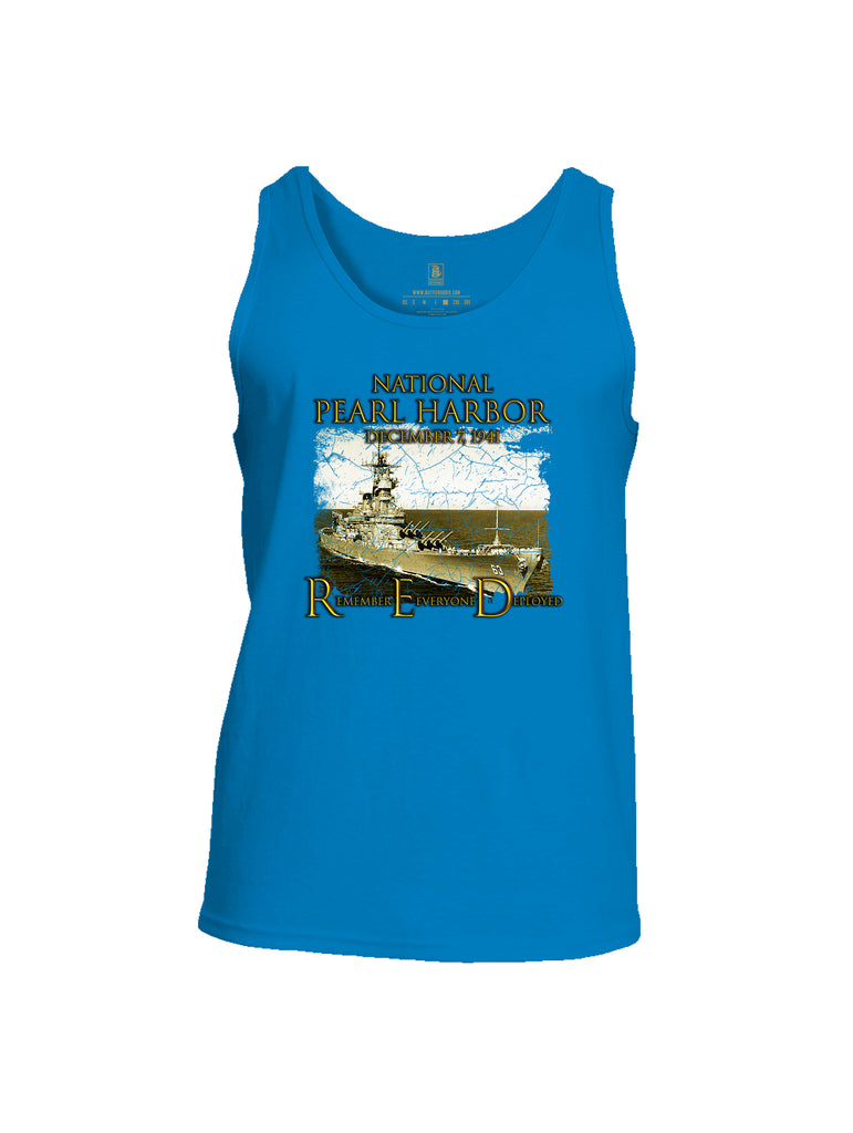 Battleraddle National Pearl Harbor Mens Cotton Tank Top