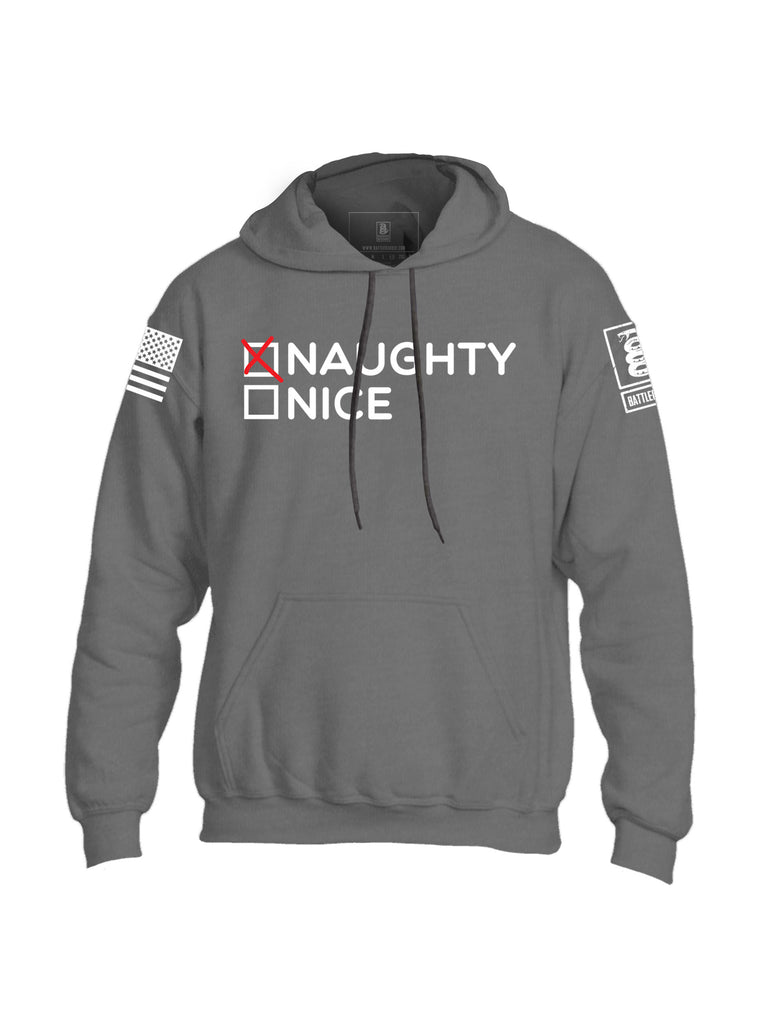 Battleraddle Naughty Nice Mens Blended Hoodie With Pockets