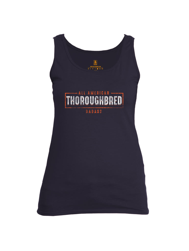 Battleraddle All American Thoroughbred Badass Womens Cotton Tank Top
