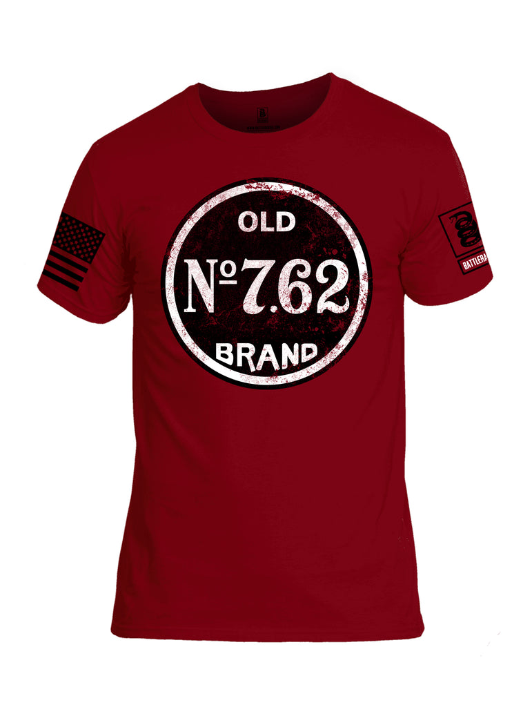 Battleraddle Old No. 7.62 Brand Black Sleeve Print Mens Cotton Crew Neck T Shirt