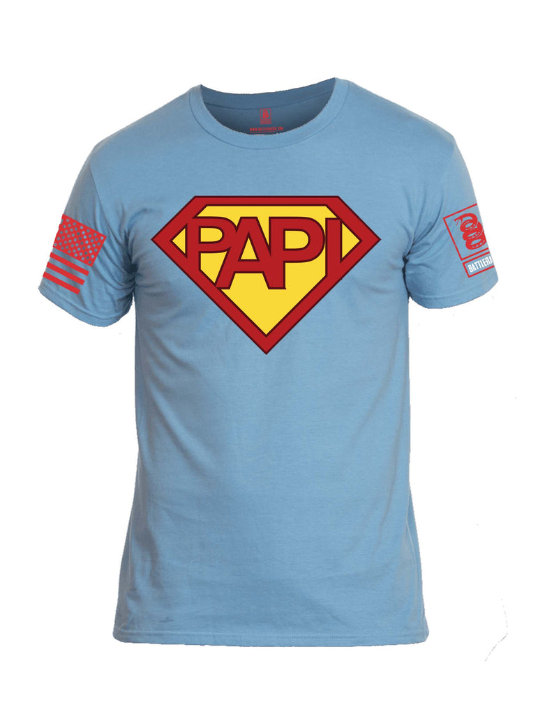 Battleraddle Papi Red Sleeve Print Mens Cotton Crew Neck T Shirt