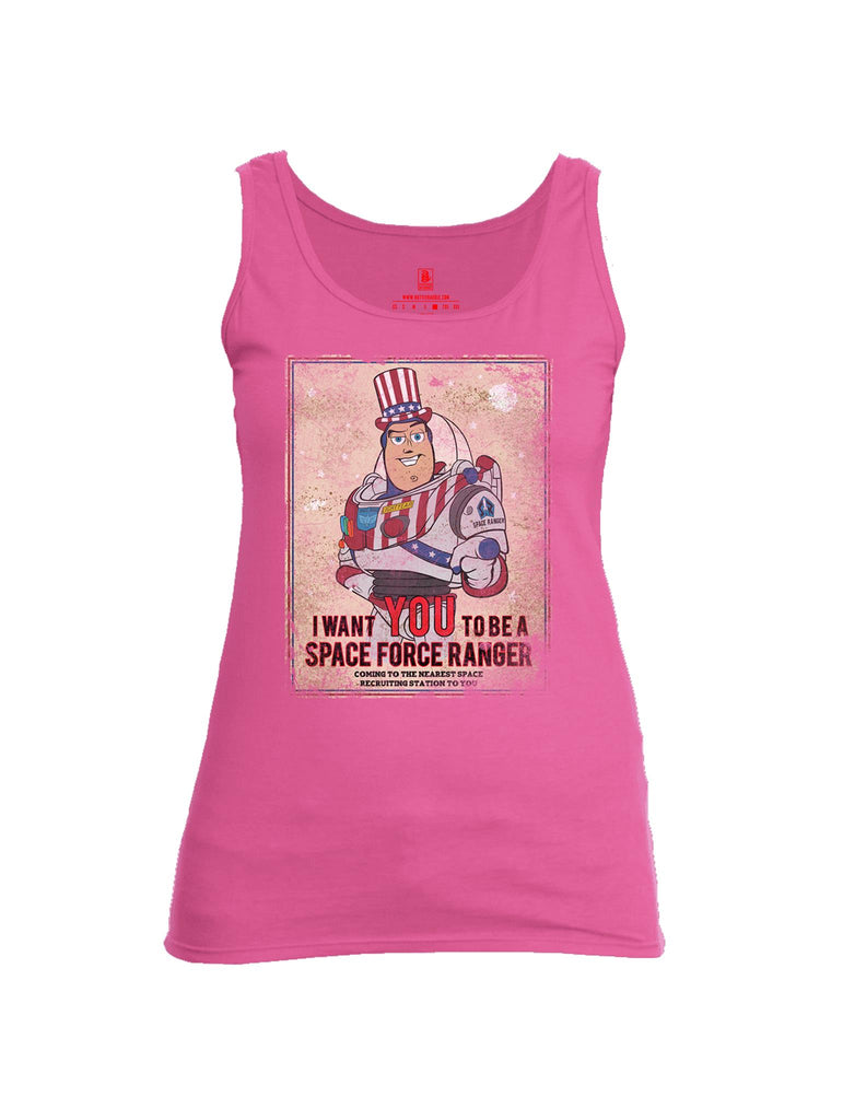 Battleraddle I Want You To Be A Space Force Ranger Womens Cotton Tank Top
