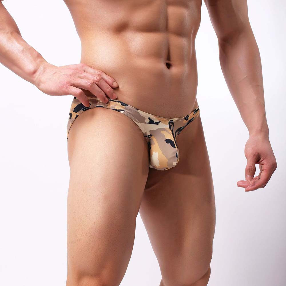 Battleraddle Mens Fashion Camouflage Print Spandex Brief Underwear