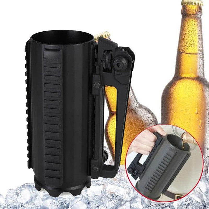 Battleraddle AR15 Battle Rail Beer Mug Cup Tactical Military Aluminum Alloy Detachable Carry - Battleraddle® LLC
