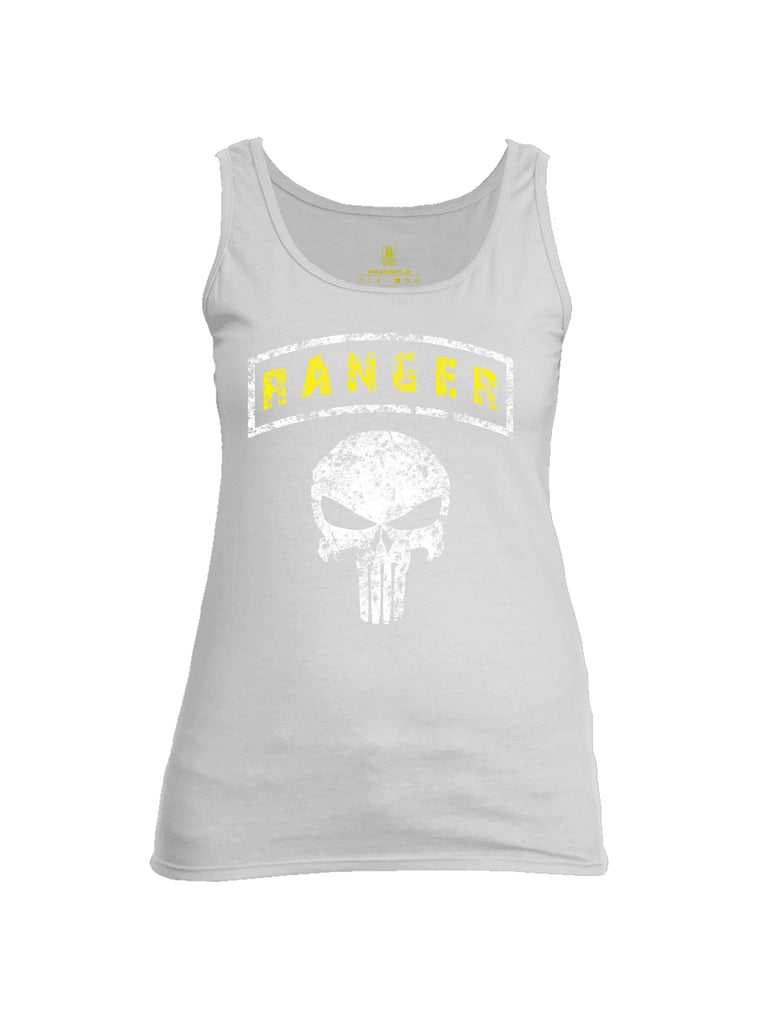 Battleraddle Ranger Tab Mr. Expounder Skull Womens Cotton Tank Top