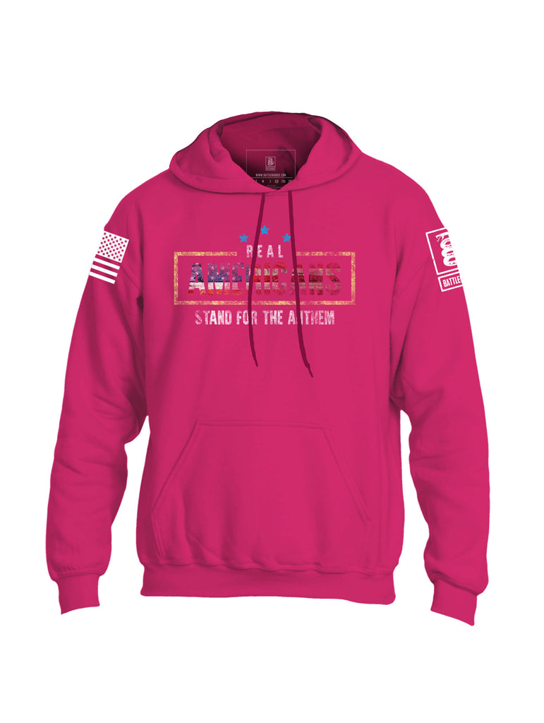 Battleraddle Real Americans Stand For The Anthem Mens Blended Hoodie With Pockets
