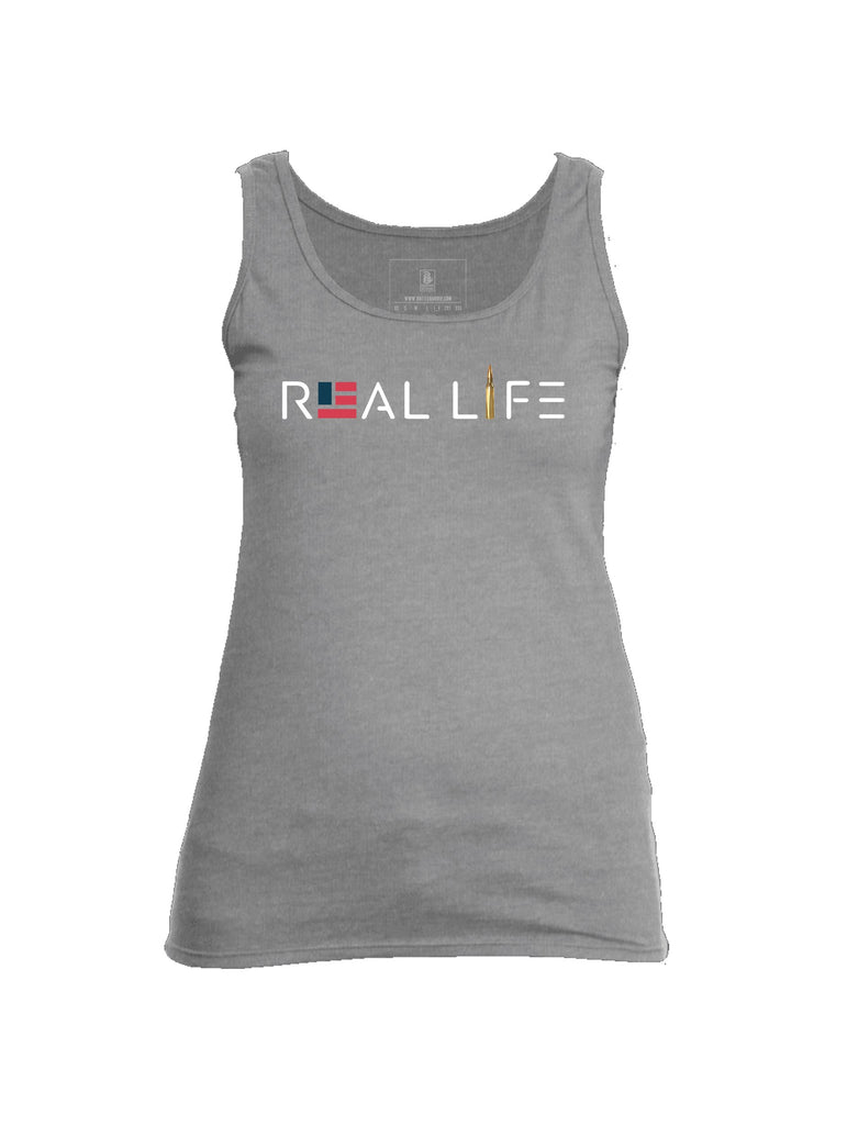 Battleraddle Real Life Womens Cotton Tank Top