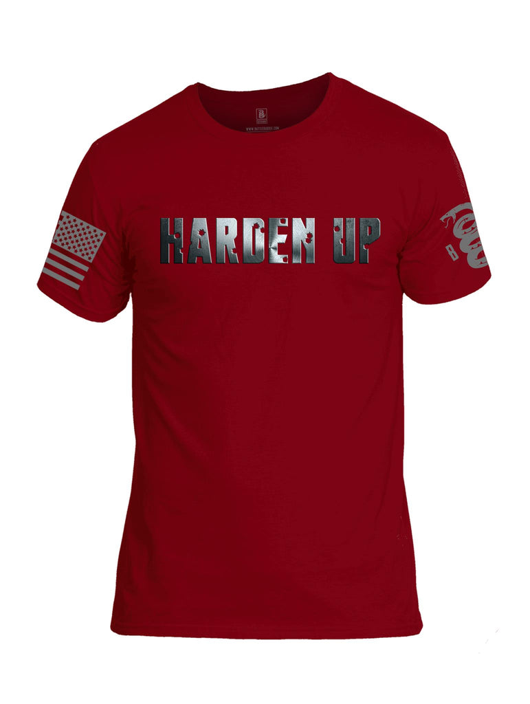 Battleraddle Harden Up Grey Sleeve Print Mens Cotton Crew Neck T Shirt