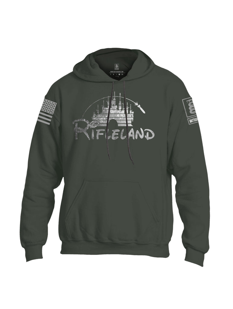 Battleraddle Rifleland V2 Grey Sleeve Print Mens Blended Hoodie With Pockets