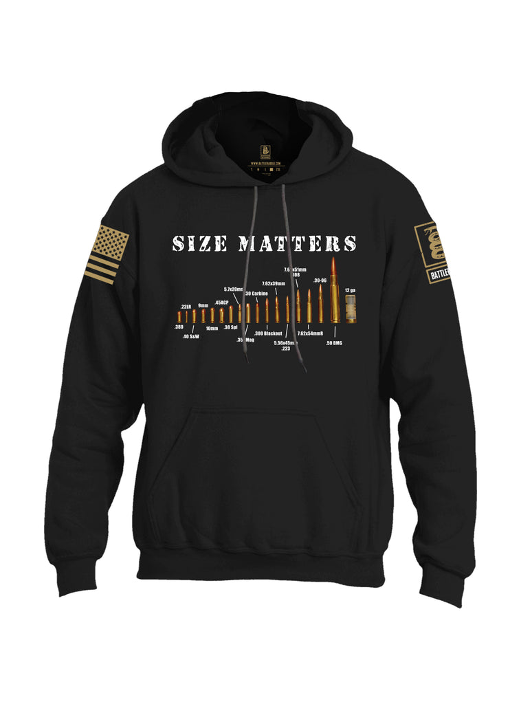 Battleraddle Size Matters Brass Sleeve Print Mens Blended Hoodie With Pockets